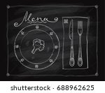 chalkboard menu list design ... | Shutterstock .eps vector #688962625