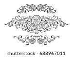 set of three hand drawn... | Shutterstock . vector #688967011