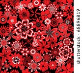 seamless pattern with red and... | Shutterstock . vector #68896819