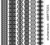 lace seamless borders set... | Shutterstock .eps vector #688975201