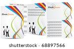 abstract brochure in wave...   Shutterstock .eps vector #68897566