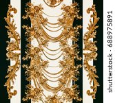 baroque pattern.. flowers...   Shutterstock . vector #688975891