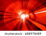 motion blur abstract   in an... | Shutterstock . vector #688978489