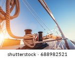 luxury yacht tackle during the... | Shutterstock . vector #688982521
