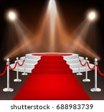 realistic vector red event... | Shutterstock .eps vector #688983739