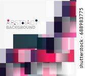 abstract blocks template design ... | Shutterstock . vector #688983775