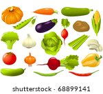 set of vegetables   Shutterstock .eps vector #68899141