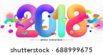 2018 new year lettering  ... | Shutterstock .eps vector #688999675