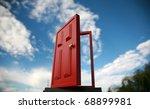 a magic red door  leading to... | Shutterstock . vector #68899981