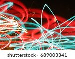 lighting effect  red and green... | Shutterstock . vector #689003341