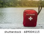 first aid kit | Shutterstock . vector #689004115