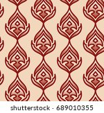 stylized flame pattern.... | Shutterstock .eps vector #689010355