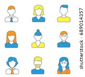 people line icons vector... | Shutterstock .eps vector #689014357