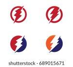 lightning logo template vector... | Shutterstock .eps vector #689015671