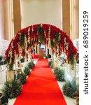 flower way red carpet | Shutterstock . vector #689019259