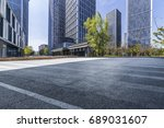 empty floor with modern... | Shutterstock . vector #689031607