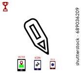 pencil icon  vector eps 10...