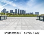 panoramic skyline and buildings ... | Shutterstock . vector #689037139