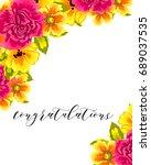 vintage delicate invitation... | Shutterstock .eps vector #689037535