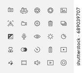 photo icons vector illustration ... | Shutterstock .eps vector #689039707