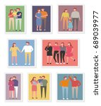 family and friends photo vector ... | Shutterstock .eps vector #689039977