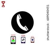 mobile icon. vector eps 10...