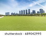 panoramic skyline and buildings ... | Shutterstock . vector #689042995