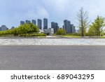 panoramic skyline and buildings ... | Shutterstock . vector #689043295