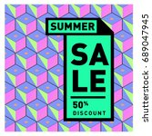 summer sale colorful style... | Shutterstock .eps vector #689047945