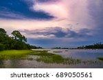 Salt Marsh With Cord Grass