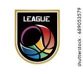 basketball league logo | Shutterstock .eps vector #689053579