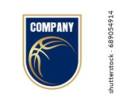 basketball logo   Shutterstock .eps vector #689054914