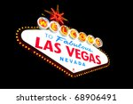welcome to las vegas neon sign... | Shutterstock . vector #68906491