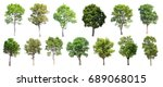 collection of isolated trees on ... | Shutterstock . vector #689068015