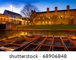 Punts On The River Cam  ...