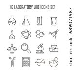 laboratory icon set. collection ...   Shutterstock .eps vector #689071987