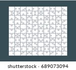 jigsaw puzzle blank template or ...   Shutterstock .eps vector #689073094