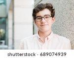 portrait of typical american... | Shutterstock . vector #689074939