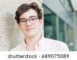 portrait of typical american... | Shutterstock . vector #689075089