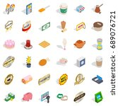 drink coffee icons set.... | Shutterstock .eps vector #689076721