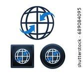 design of global communication... | Shutterstock .eps vector #689084095