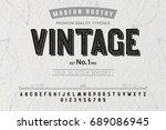 font. alphabet. script.... | Shutterstock .eps vector #689086945