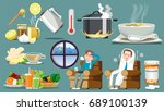 treatment of the common cold.... | Shutterstock .eps vector #689100139