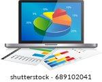 fintech investment financial... | Shutterstock .eps vector #689102041