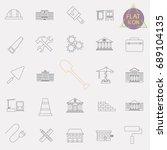 building line icons set | Shutterstock .eps vector #689104135