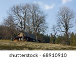 landscape with a cottage in the ... | Shutterstock . vector #68910910