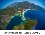 oludeniz beach and blue lagoon... | Shutterstock . vector #689120959
