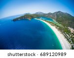 aerial view of the beach of... | Shutterstock . vector #689120989