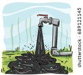 cartoon illustration of dirty...   Shutterstock .eps vector #689121145