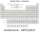 periodic table of the elements... | Shutterstock . vector #689122819